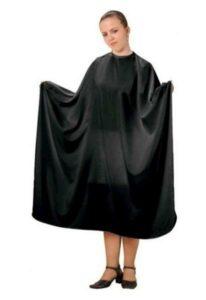 Kadeřnická pláštěnka na stříhání Fox Basic Line - černá (1509405